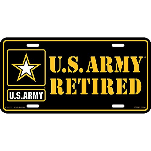 U.S. Army Retired License - Army Plate Retired License