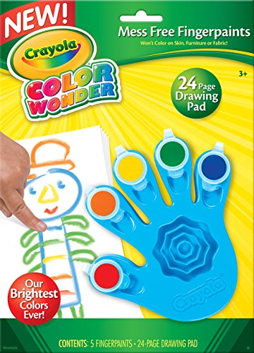 Crayola, Color Wonder Mess Free Fingerpaints and Paper, Art Tools, Great for Travel - Color Wonder Finger Paint