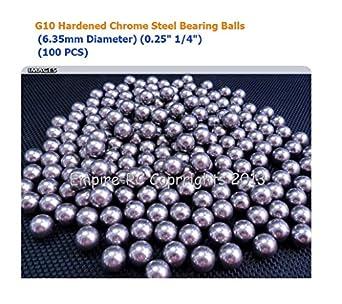"G16 Hardened Carbon Steel Bearing Balls 6.35mm 10 PCS 0.25/"" 1//4/"" inch"
