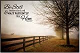Be Still Before the Lord Morning Routine 24 x 36 Wood Wall Art Sign Plaque