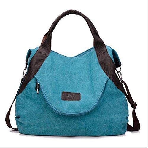 red Para Bolso Blue bolsas Mujer Hombro Lona De Lxyiun Bolsos Gran Capacidad 6Sqvq