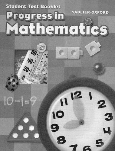 Student Test Booklet Grade 1 Sadlier-Oxford Progress In Mathematics