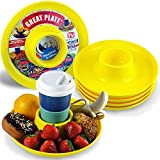 Great Plate Food Beverage Plate 6 pack (Yellow)