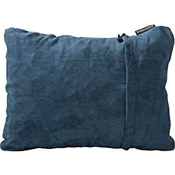 """Therm-a-Rest Compressible Travel Pillow for Camping, Backpacking, Airplanes and Road Trips, Denim, Medium: 14"""" x 18"""""""