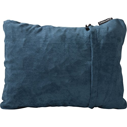 Therm-a-Rest Compressible Travel Pillow for Camping, Backpacking, Airplanes and Road Trips, Denim, Medium - 14 x 18 Inches