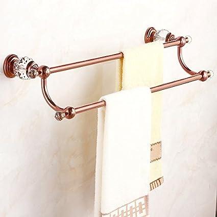 ZHAS Polo doble baño Toallero estantería doble cubierta Ducha Toallas colgador de toallas de baño baño