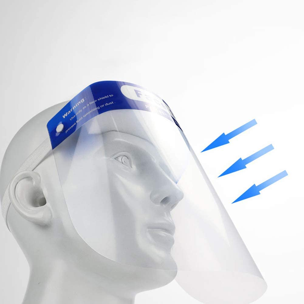 Emp/êcher La Salive Le Brouillard Les Gouttelettes FYLY-Visi/ère de Protection Faciale L/éger Transparent Plein Visage Couverture Bouclier Masque Protecteur Isolant pour Le Visage