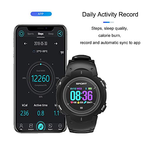 Reloj inteligente F13 resistente al agua IP68 Smartwatch Bluetooth ...