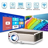 HD Video Projector Wifi Android, 4200 Lumens Home Theater LCD Projectors 1080P, HDMI USB Wireless Connectivity, for TV DVD XBOX Blu Ray, Outdoor Backyard Cinema System Sports Movies Video Games