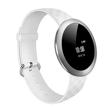 LUOOV Bluetooth reloj inteligente, redondo pantalla táctil resistente al agua reloj inteligente teléfono, monitor