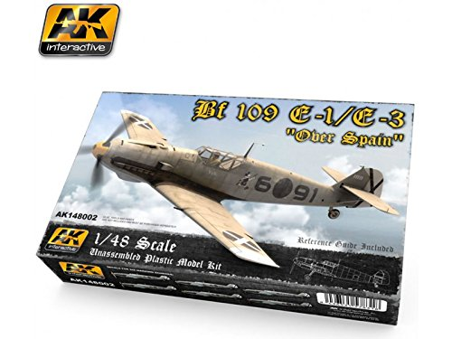Bf 109e-1 / E - 3 OverスペインFighter (プラスチックキット) 1 / 48 AK Interactive   B01DQZ76ES