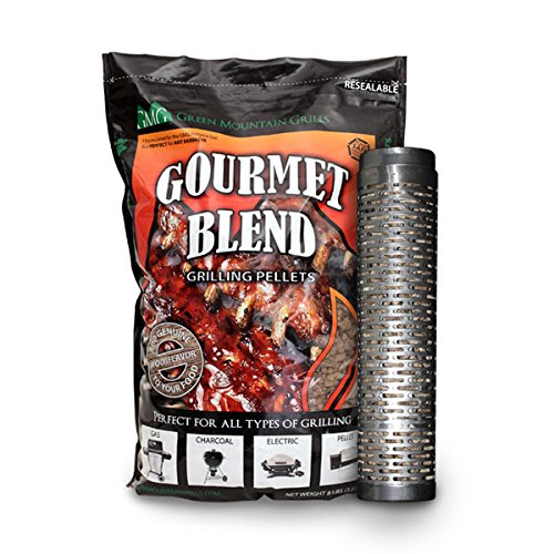 Green Mountain Grill Thin Blue Smoker Tube with 8lb bag of Smoker pellets – 6027 For Sale