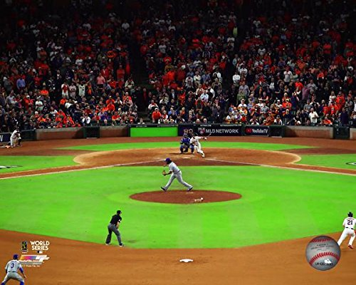 Houston Astros Alex Bregman Game Winning Hit During Game 5 Of The 2017 World Series. 8x10 Photograph Picture. (5 (10 Photograph World Series)