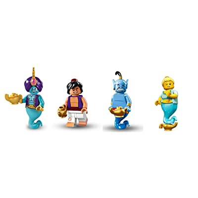 LEGO Genie, Genie Girl, Aladdin, and Genie from Aladdin Minifigures Disney: Toys & Games