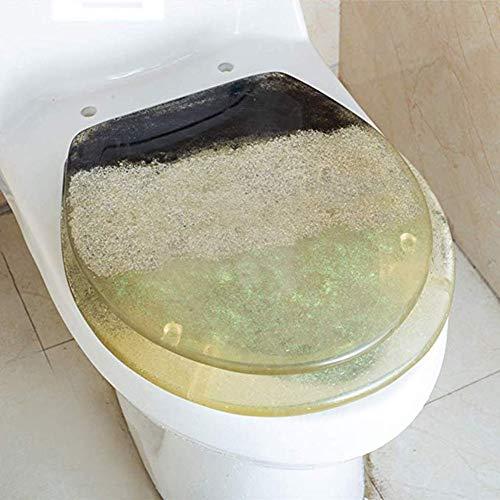 Yuzhijie De kleur van de kinderen de Volwassen Transparante Hars Verdikte Duurzame Huishoudelijke Ouderwetse Toilet…