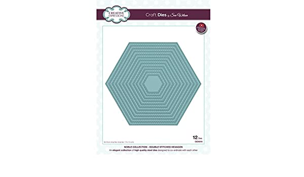CED5518 Double Stitched Hexagon SALE Creative Expressions Noble Dies
