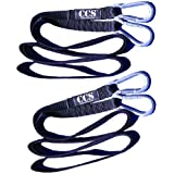 Two - 9' Sled Straps with Steel Carabiner Connectors