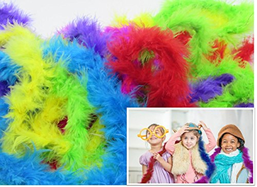 Toy Cubby Adorable Dress up Mini Marabou Feather Boas - 12 -