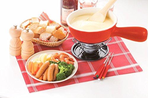 イシガキ産業チーズフォンデュセット15cmレッド3866