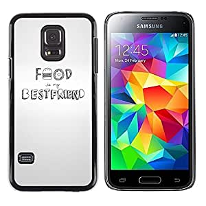 Paccase / Dura PC Caso Funda Carcasa de Protección para - Food Hamburger Best Friend Grey White - Samsung Galaxy S5 Mini, SM-G800, NOT S5 REGULAR!
