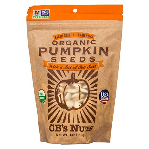 USA Grown Organic Lightly Salted Pumpkin Seeds By CB's Nuts (1 4oz Bag) ()