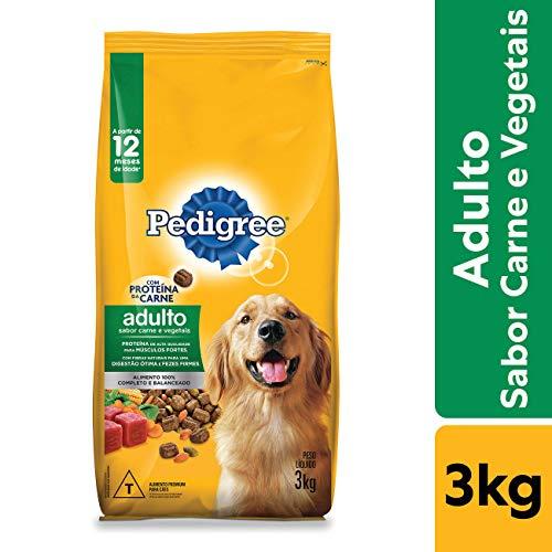 Ração Pedigree Carne e Vegetais Para Cães Adultos Raças Médias e Grandes 3 kg