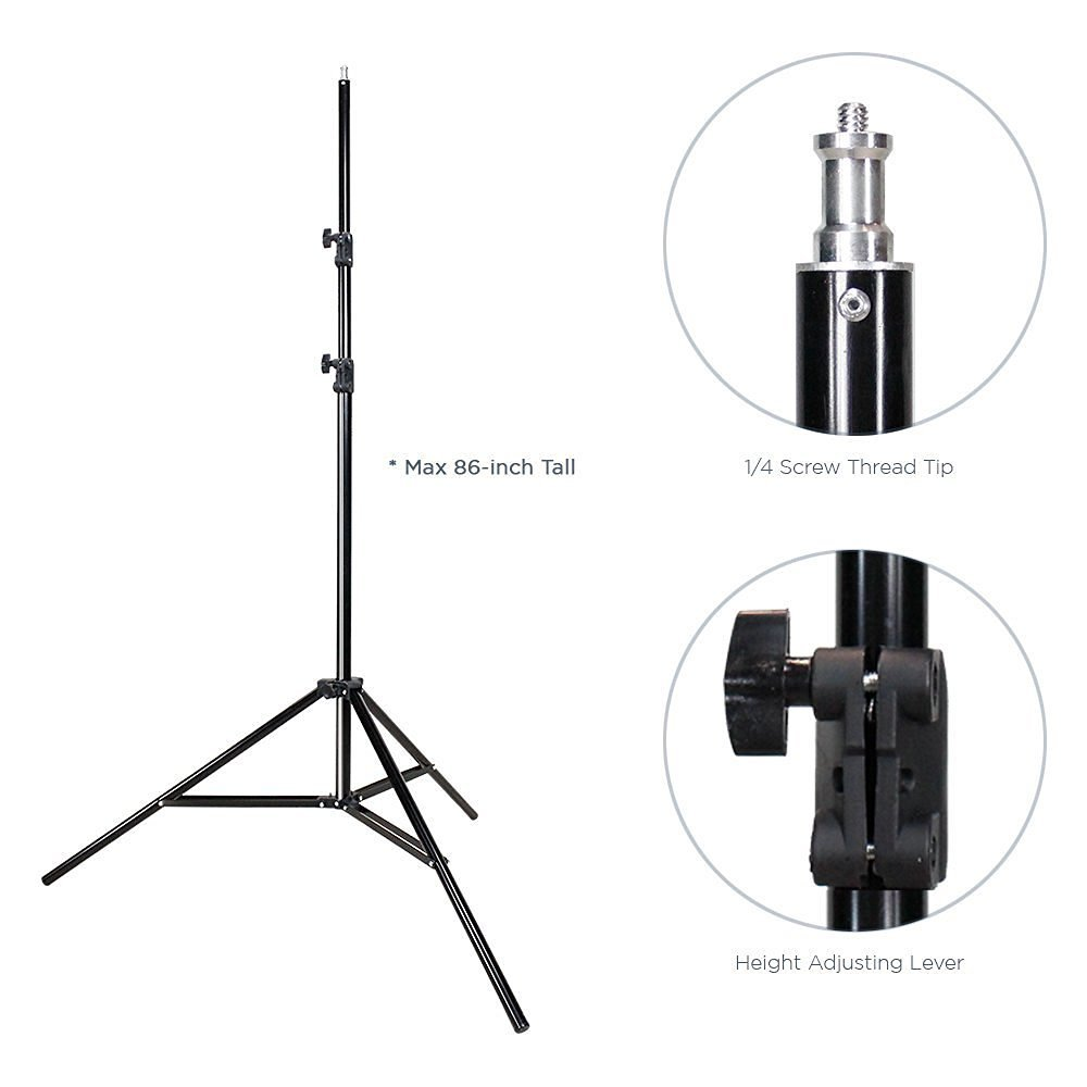 LimoStudio 800-840W Photography Lighting Light Kit, 10' x 10' Black Muslin Backdrop, 10' x 10' White Muslin Backdrop Background Photo Portrait Studio Umbrella Continuous Lighting Kit, AGG257V2 by LimoStudio