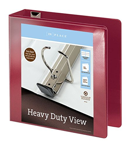 Office Depot(R) Brand Heavy-Duty D-Ring View Binder, 3in. Rings, 54% Recycled, Dark Red