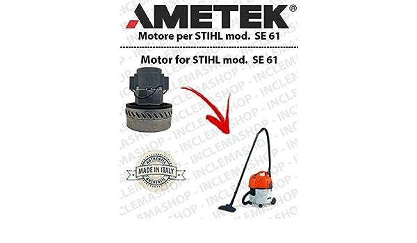Se 61 Motor aspiración ametek para aspiradora y te Stihl: Amazon ...