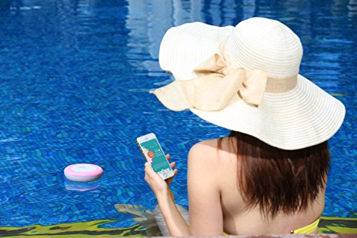 Amazon.com: Poolsmart - LilyPad Smartphone Bluetooth Pool Thermometer and UV Sensor (Pink): Health & Personal Care