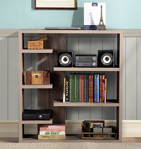 Homestar 6-Shelf Storage Bookcase in Reclaimed Wood by Home Star (Image #11)