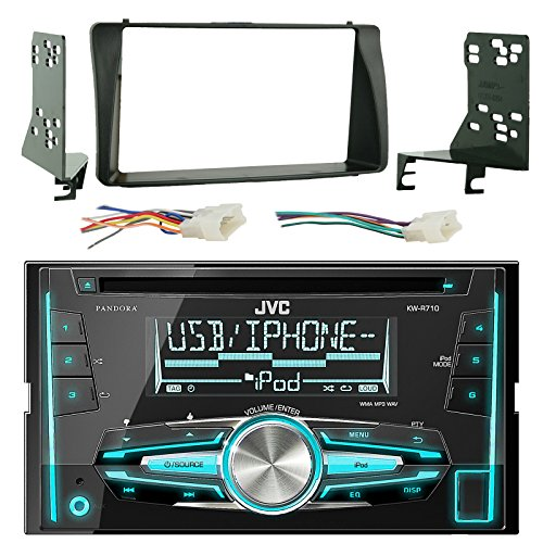 jvc-kw-r710-double-din-cd-mp3-player-stereo-receiver-bundle-combo-with-metra-2-din-installation-dash