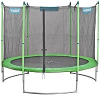 Hudora Family Trampolin mit Sicherheitsnetz, grün/schwarz, 300 cm, 65630