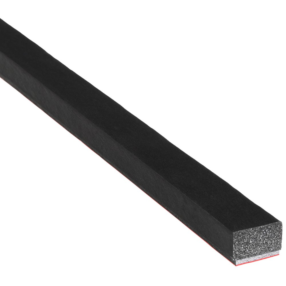 """Trim-Lok Solid Rectangle Rubber Seal – EPDM Foam Rubber Seal with BT (3M) High Strength Tape – Door & Window Weather Seal for Your Home, Car, Truck, RV or Boat – .25"""" Height, .5"""" Width, 100' Length"""