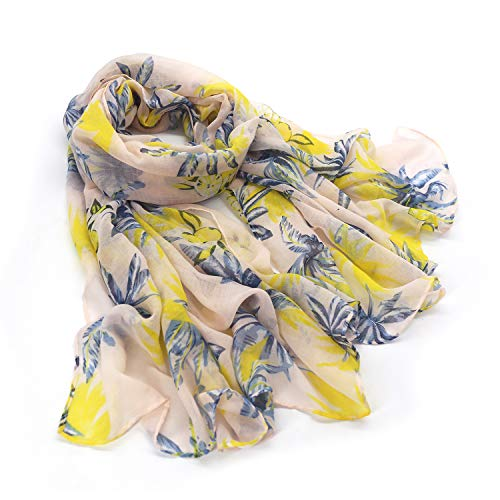 Women scarves lightweight in fashion print Long and large Fall Floral Print Scarves Cotton Sunscreen Shawl Wraps