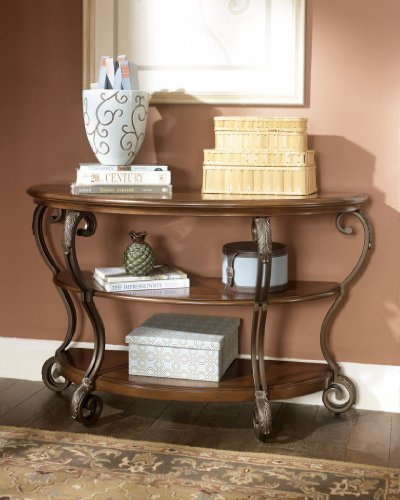 Traditional Medium Brown Finish Sofa Table