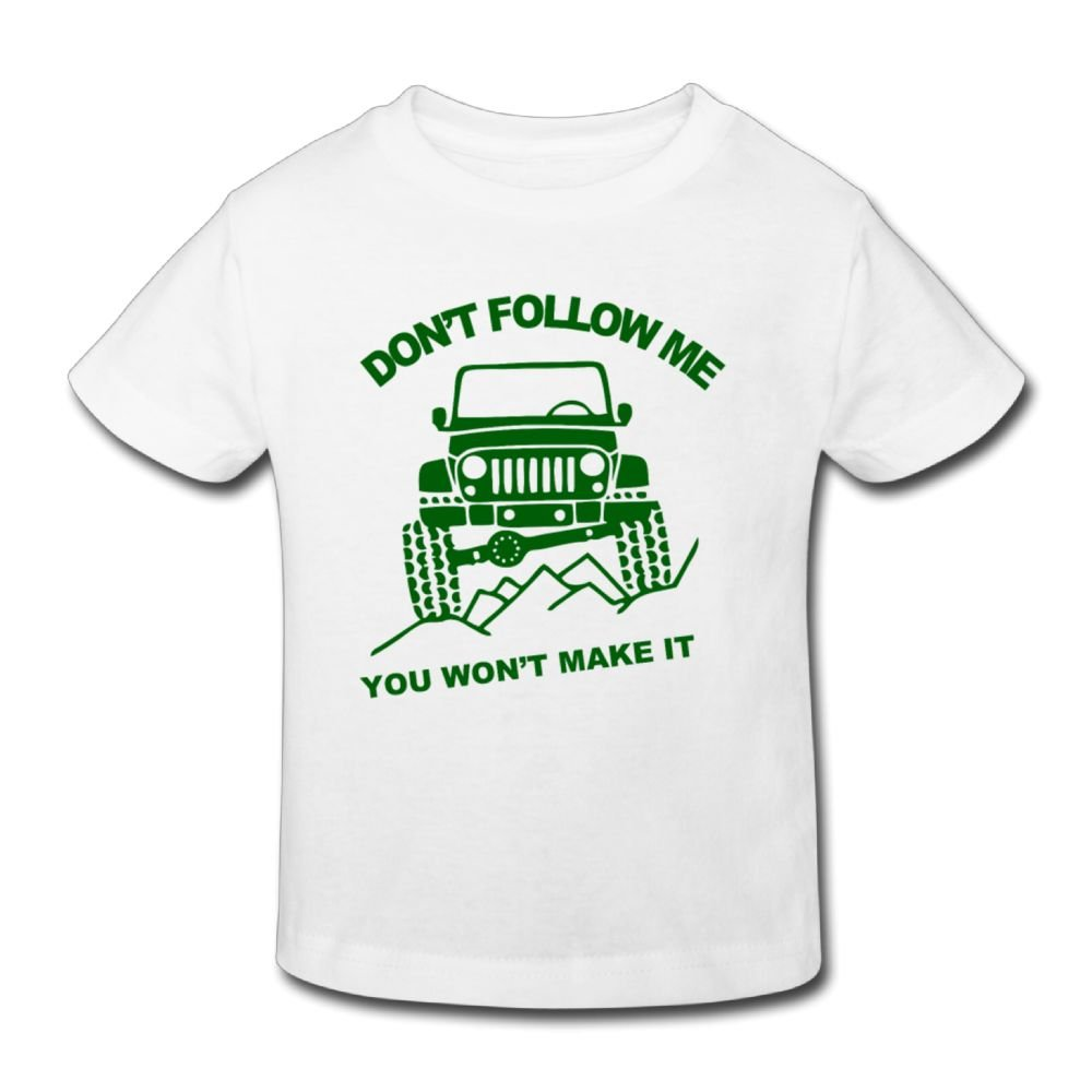Wiongh Opp Party Short Sleeve Tshirts Jeep Dont Follow Me Childrens//Kids For Girls/&Boys