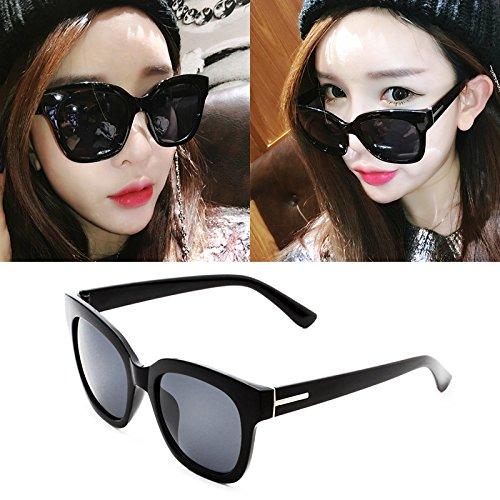lunettes de soleil une dame a le visage rond korean rétro - yeux star des lunettes des lunettes de soleil les marées nouveau cycle.boîte noire film bleu (sac) 6xdzp3g