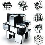 Tukzer® Magic Mirror Rubik's 3x3 Cube-Silver