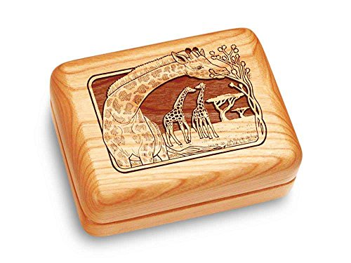 Music Box 4x3'' - Giraffes - Ode to Joy by Heartwood Creations