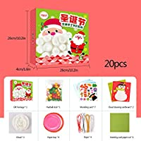 Feelava Christmas Diy Games Set Funny 3d Detachable Xmas Ornaments Christmas Tree Snowman Santa Claus Hat Diy Paper Craft For Kids Birthday Christmas Party Holiday Decorations And Toys Buy Online At Best