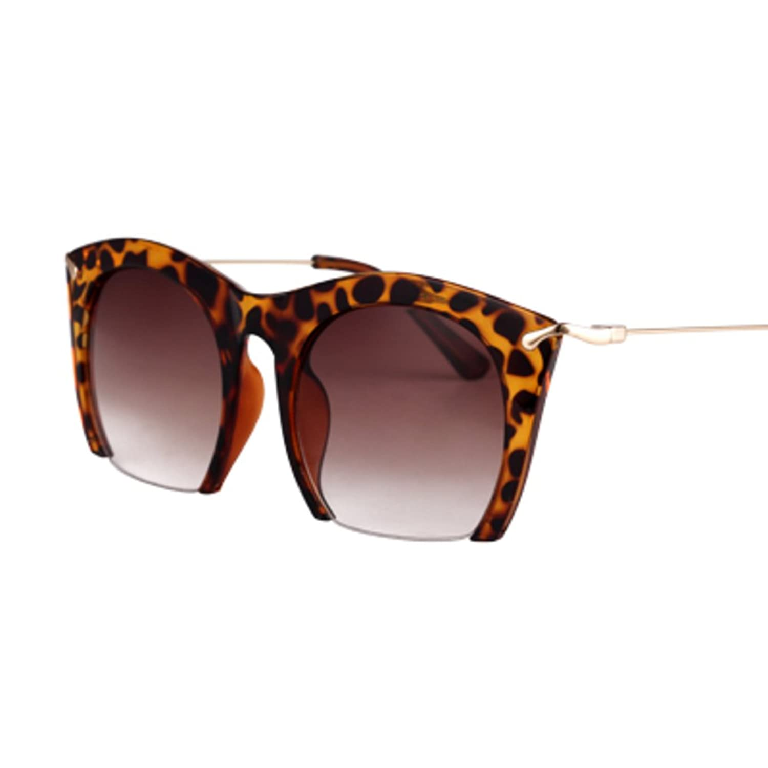 Vintage personality half frame Leopard sunglasses/The Korean version of sunglasses/Box boom in Europe and America peoples Congress frog mirror
