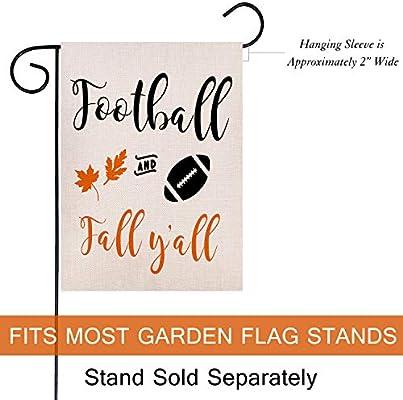 Autumn Leaves Quote House Yard Flag Garden Yard Decorations Seasonal Outdoor Flag 12 X 18 Dyrenson