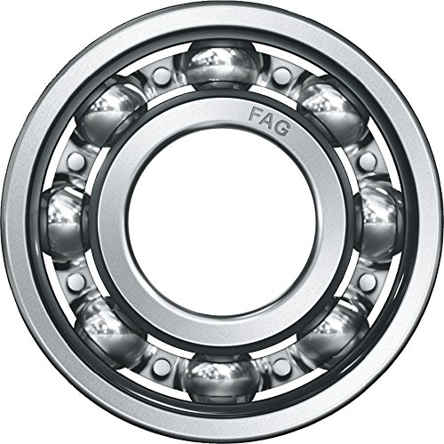 Fag Bearings - FAG 6002 Radial Bearing, Single Row, ABEC 1 Precision, Open, Steel Cage, Normal Clearance, Metric, 15mm ID, 32mm OD, 9mm Width, 30000rpm Maximum Rotational Speed, 640lbf Static Load Capacity, 1250lbf Dynamic Load Capacity