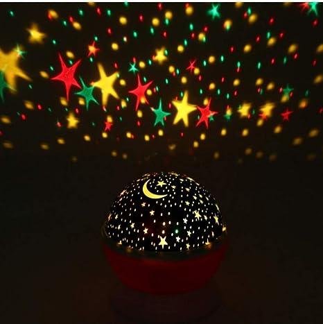 Proyector Estrellas,Lámpara de NocheLuz brillante de la ...