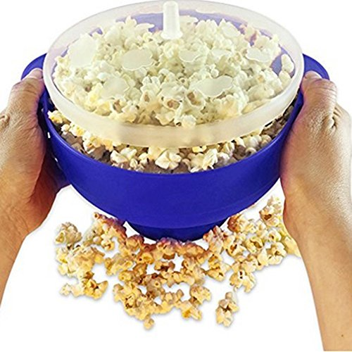 Microwave Silicone Popcorn Popper Maker Collapsible Bowl For
