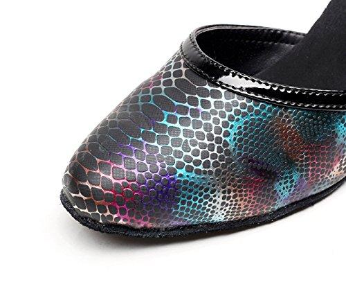 Our36 Latine Sandales Hauts Jshoe Danse uk4 Samba Chaussures Chacha Pour Eu35 Jazz Noirs7 Tango 5cm Moderne De Salsa Talons Femme AxxfPHwn
