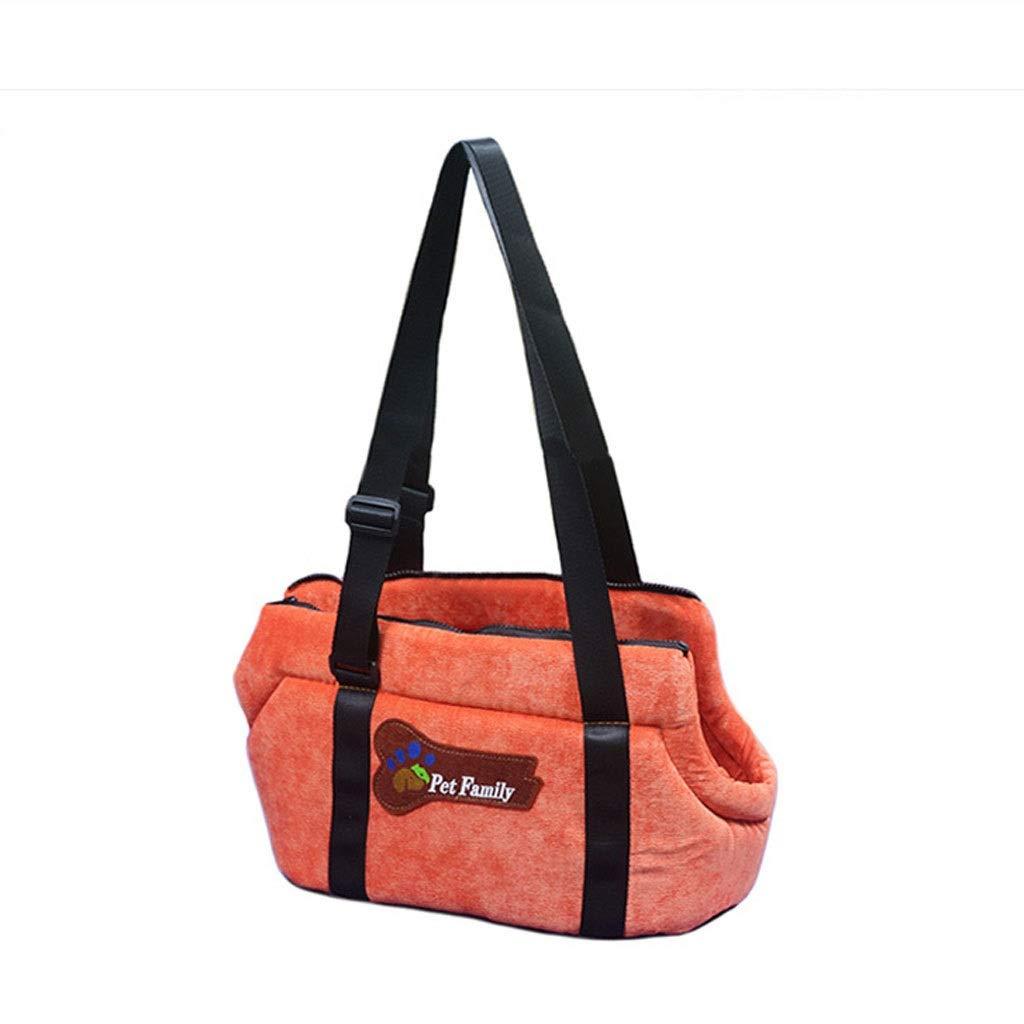 orange S orange S Pet Bag Pet Backpack Pet Out Carrying Dog Bag Cat Bag Dog Backpack Pet Shoulder Bag Messenger Bag (color   orange, Size   S)