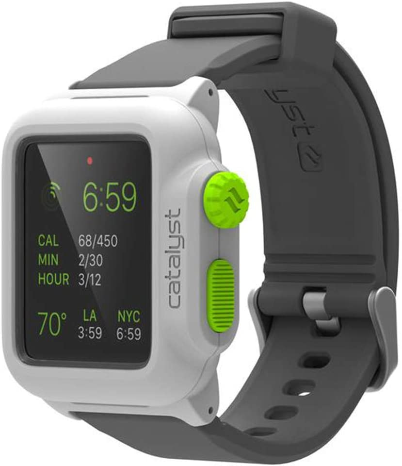 Apple Series 1 42mm Waterproof Watch Case by Catalyst, Shock Proof Premium Material Quality for Hiking, Swimming, Beach Trips, Kayaking, Cruise Accessories (Green Pop)- Only Compatible with Series 1