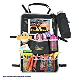 Back Seat Car Organizer and Universal Stroller Baby Bag – Large Tablet Holder – Easy to Install Organization for Kids – Perfect for Toy Storage, Car Accessories + BONUS Bottle Bag by Happy Elephant